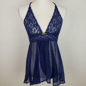 Victoria's Secret Blue Lingerie Teddy